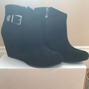 Black suede Wooster boot BCBgeneration wedge
